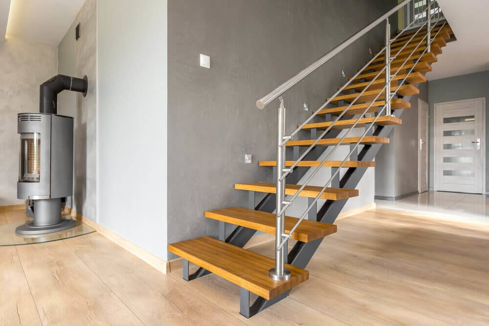 residential-log-cabin-stairs-design