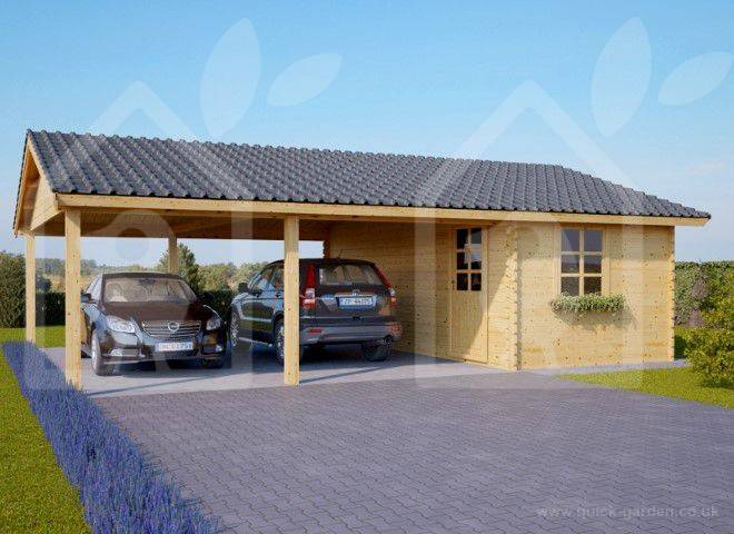 two_car_wooden_carport_with_a_storage_cabin_6m_x_7.5m