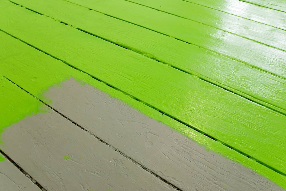 residential-log-cabin-painted-floor